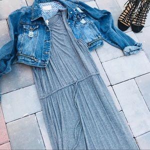 Gray Merona high low dress. Size L